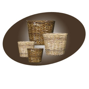 Decorative baskets in Stock at Bob's Tropicals Showroom in Phoenix.