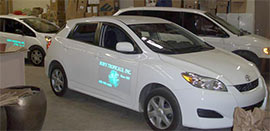 Interior Lanscape maintenance with Green fuel efficient vehicles by Bob's Tropicals of Phoenix Arizon
